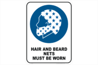 Hair and Beard Nets sign