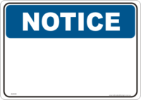 Notice Design a Sign