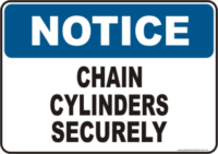 Chain Cylinders Notice sign