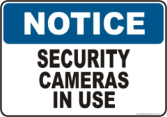 Security Camera Notice sign