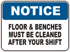 Clean Workplace Notice sign