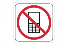 No mobile phones sticker