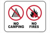 No Camping No Fires