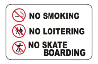 no smoking no loitering no skateboarding