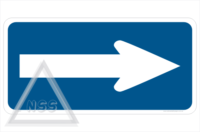 Electric Vehicle Directional Arrow sign