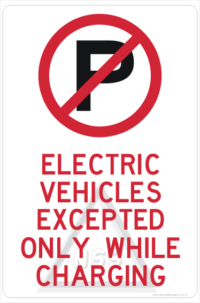 Electric Vehicle Parking sign
