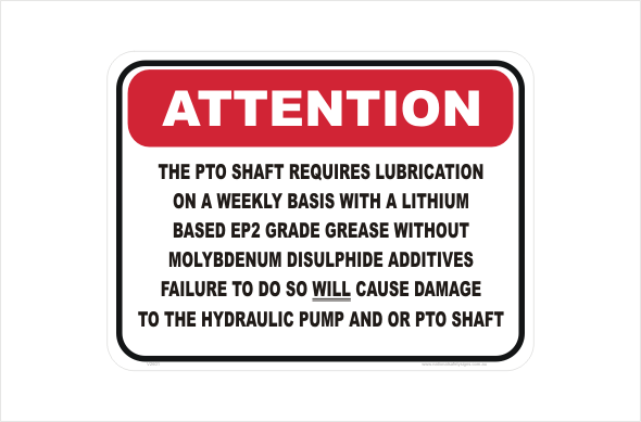 PTO shaft lubrication