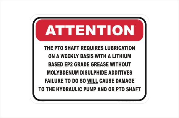 PTO shaft lubrication