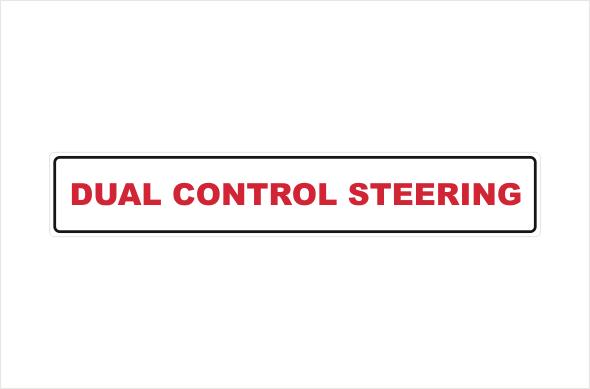 dual control steering