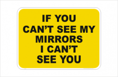 If you can't see my mirrors