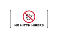 No Hitch hikers