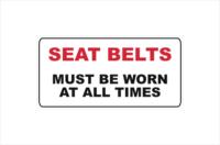 seat belts must be worn