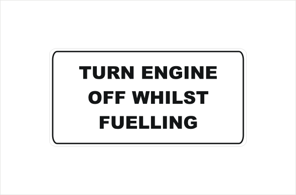 turn engine off whilst fuelling