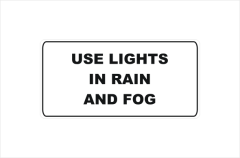 use lights in rain and fog