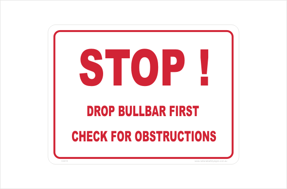 drop bullbar first check for obstructions