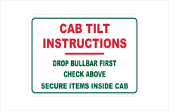 cab tilt instructions
