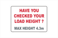 have you checked your load height