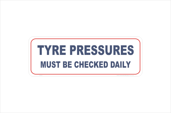 tyre pressures must be checked