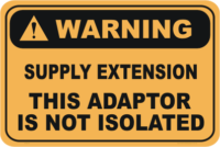 Supply Extension not Isolated warning sign