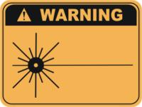Laser warning sign