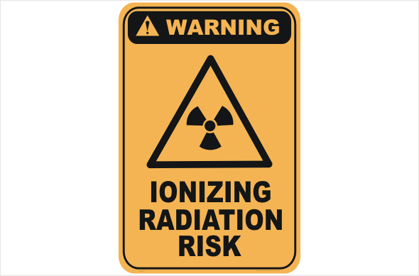 Ionizing Radiation Risk warning sign
