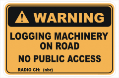 Logging Machinery sign