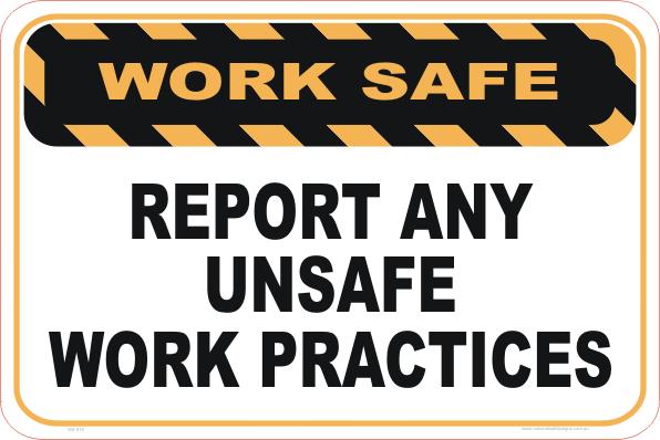 Report Unsafe Work Practices