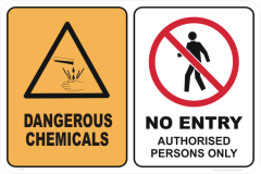 DANGEROUS CHEMICALS - NO ENTRY