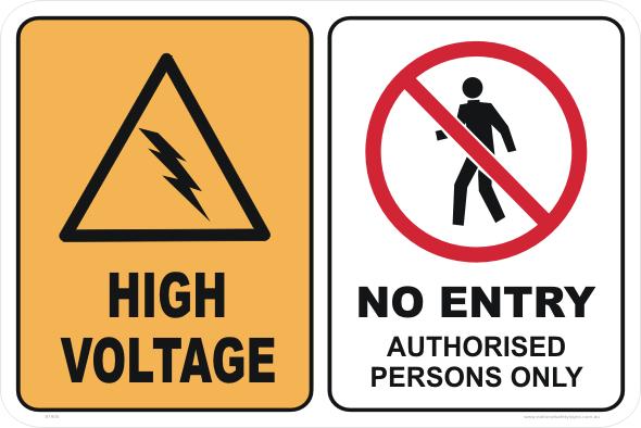 High Voltage No Entry
