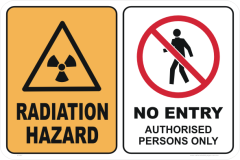 Radiation Hazard No Entry