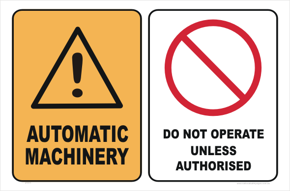 automatic machinery do not operate