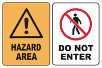 Hazard Area Do Not Enter