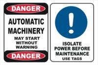 Automatic Machinery Sign