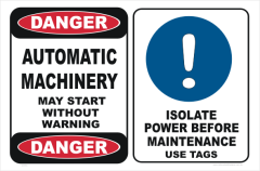 Automatic Machinery Sign