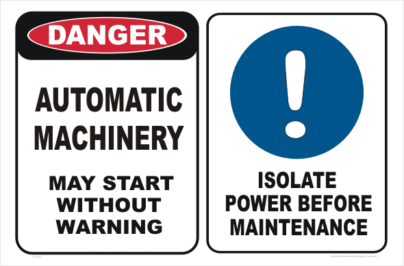 Automatic Machinery isolate power