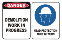 Demolition Work sign