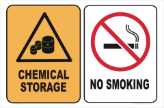 chemical storage no smoking
