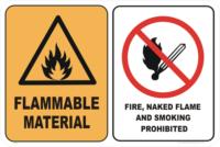 FLAMMABLE MAT - NO SMOKE