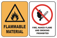 FLAMMABLE MAT - NO SMOKE