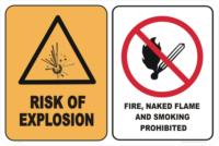 RISK EXPLOSION - NO SMOKE