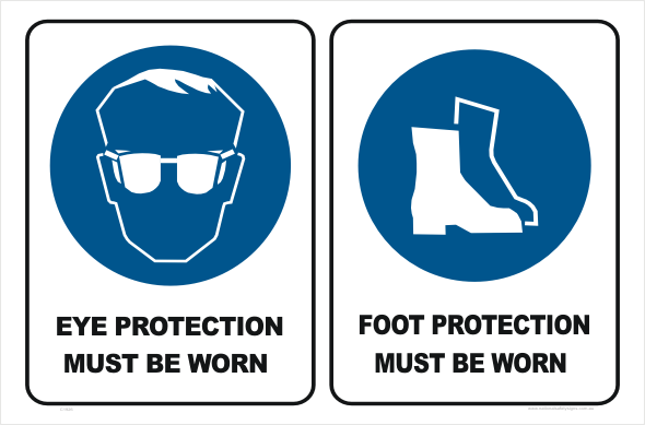 Eye Protection Foot Protection Sign C1926 National Safety Signs