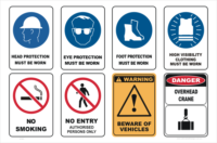 PPE site sign