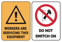 WORKERS - DO NOT SWITCH ON