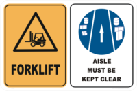 forklift keep aisle clear