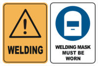 Welding Warning Signs