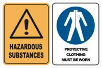 hazardous substance protective clothing