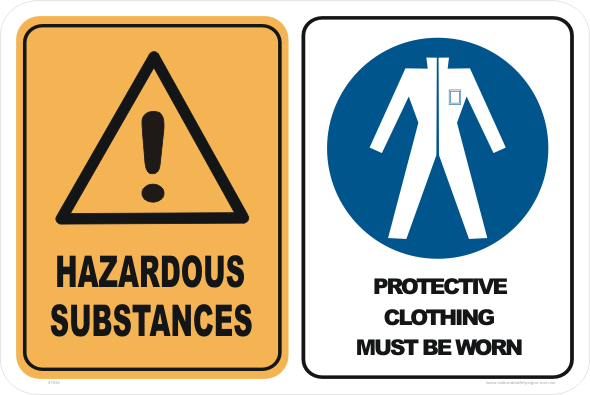 hazardous substance protective clothing