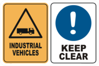 industrial vehicles keep clear