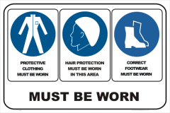 PPE CLOTHING, HAIR, FOOTWEAR