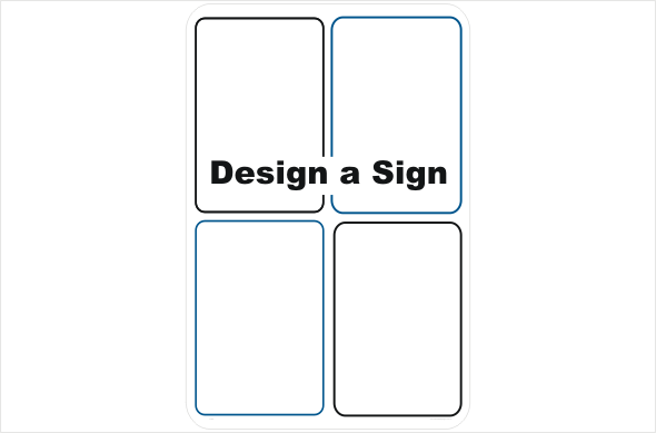 Design a combination Worksite Safety Sign